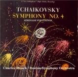 TCHAIKOVSKY - Munch - Symphonie n°4 en fa mineur op.36 (Import Japon) Import Japon