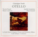 VERDI - Sabajno - Otello, opéra en quatre actes