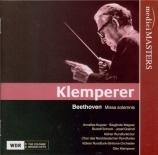 BEETHOVEN - Klemperer - Missa solemnis op.123