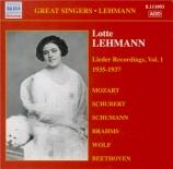 Lieder recordings Vol.1