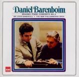 BRAHMS - Barenboim - Concerto pour piano et orchestre n°2 en si bémol ma remastered by Yoshio Okazaki, import Japon