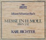BACH - Richter - Messe en si mineur, pour solistes, chœur et orchestre B Konzertmitschnitte in der Bunka-kaikan, Tokyo 1969, Import Japon