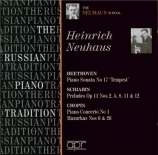 BEETHOVEN - Neuhaus - Sonate pour piano n°17 op.31 n°2 'la Tempête'