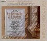 VERDI - Gardelli - La battaglia di Legnano, opéra en quatre actes