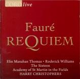 FAURE - Christophers - Requiem pour voix, orgue et orchestre en ré mineu