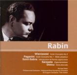 WIENIAWSKI - Rabin - Concerto pour violon n°2 op.22