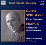 SCHUMANN - Gieseking - Concerto pour piano et orchestre en la mineur op