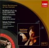 GOLDMARK - Perlman - Concerto pour violon op.28