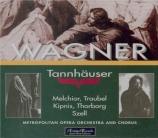 WAGNER - Szell - Tannhäuser WWV.70 (Live MET 19 - 12 - 1942) Live MET 19 - 12 - 1942