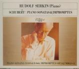 SCHUBERT - Serkin - Sonate pour piano en la majeur D.959 (import Japon) import Japon