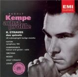 STRAUSS - Kempe - Don Quixote, pour violoncelle, alto et grand orchestre