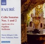 FAURE - Kliegel - Papillon, version pour violoncelle et piano op.77