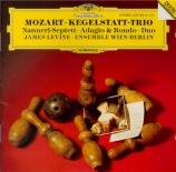 MOZART - Ensemble Wien-B - Trio pour clarinette, alto et piano en mi bém