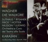WAGNER - Karajan - Die Walküre (La Walkyrie) WWV.86b Live Milano, 29 - 4 - 1958