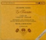 VERDI - Rescigno - La traviata, opéra en trois actes live Londres 20 - 6 - 1958