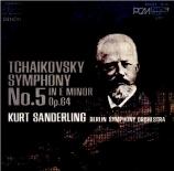 TCHAIKOVSKY - Sanderling - Symphonie n°5 en mi mineur op.64 Import Japon