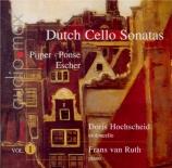Dutch sonatas for violoncello and piano Vol.1