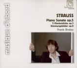 STRAUSS - Braley - Sonate pour piano n°1 en si mineur op.5