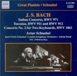 BACH - Schnabel - Concerto italien, pour clavier en fa majeur BWV.971