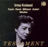 FAURE - Kolassi - La chanson d'Ève (Lerberghe), cycle de mélodies pour v