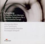 SCHOENBERG - Sinopoli - Sechs Lieder, pour soprano et orchestre op.8