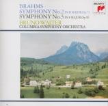 BRAHMS - Walter - Symphonie n°2 pour orchestre en ré majeur op.73 import Japon