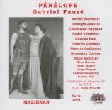 FAURE - Inghelbrecht - Pénélope, opéra (1913) RTF, Paris, 11 novembre 1951