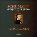 SCHUMANN - Marty - Variations sur le nom 'Abegg', pour piano en fa majeu