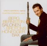BERG - Barrios - Pièces (4) pour clarinette et piano op.5