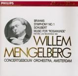 BRAHMS - Mengelberg - Symphonie n°1 pour orchestre en do mineur op.68 Import Japon