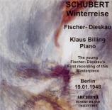 SCHUBERT - Fischer-Dieskau - Winterreise (Le voyage d'hiver) (Müller), c