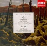 BRITTEN - Rattle - War requiem, pour solistes, ensemble de chambre, choeu