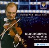 STRAUSS - Wolf - Sonate pour violon et piano en Mi bémol majeur op.18