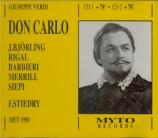 VERDI - Stiedry - Don Carlo, opéra (version italienne) Live, MET 6 - 11 - 1950