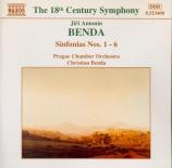 BENDA - Benda - Sinfonia n°1 en ré majeur