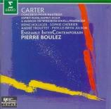 CARTER - Boulez - Concerto pour hautbois