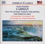 CADMAN - Posnak - Trio avec piano op.56