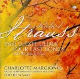STRAUSS - Margiono - Vier letzte Lieder (Quatre derniers lieder), pour s