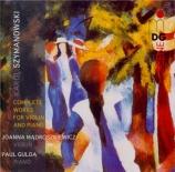 SZYMANOWSKI - Madroszkiewicz - Sonate pour violon et piano op.9