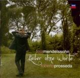 MENDELSSOHN-BARTHOLDY - Prosseda - Romances sans paroles (intégrale) (Li