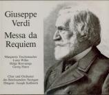 VERDI - Keilberth - Messa da requiem, pour quatre voix solo, choeur, et o