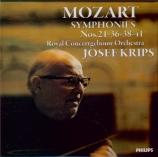 MOZART - Krips - Symphonie n°21 en la majeur K.134 (Import Japon) Import Japon
