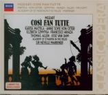 MOZART - Marriner - Cosi fan tutte (Ainsi font-elles toutes), opéra bouf