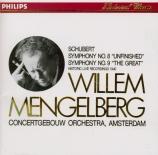 SCHUBERT - Mengelberg - Symphonie n°8 en si mineur D.759 'Inachevée' Import Japon
