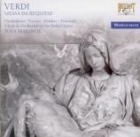 VERDI - Marinov - Messa da requiem, pour quatre voix solo, chœur, et orc