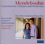 MENDELSSOHN-BARTHOLDY - Silver Garburg - Concerto double pour deux pian