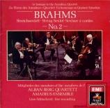 BRAHMS - Alban Berg Quar - Sextuor à cordes n°2 en sol majeur op.36 Import Japon