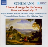 SCHUMANN - Rubens - Lieder-Album für die Jugend, cycle de vingt-huit mél