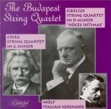 WOLF - Budapest String - Sérénade italienne, pour quatuor à cordes