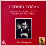 STRAUSS - Kogan - Sonate pour violon et piano en mi bémol majeur op.18